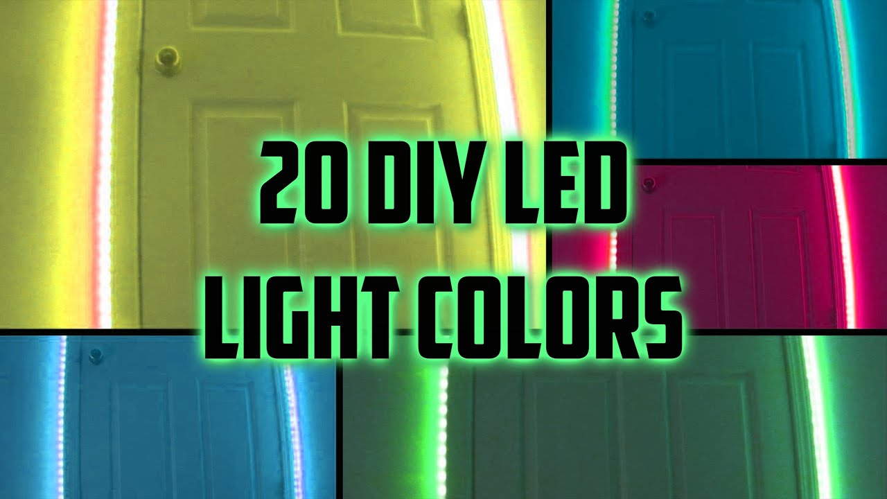 20 Diy Led Light Colors Youtube Our fiber optic hair clips can be altered to make a diy bouquet full of led lights! 20 diy led light colors