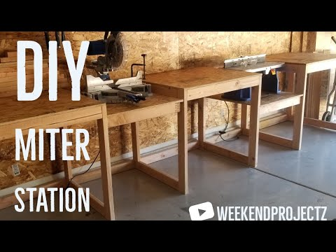 How To Build a Miter Saw Station // DIY Work Station