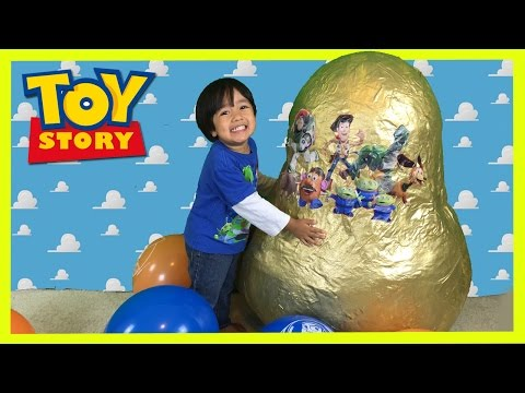 Thumbnail: GOLDEN GIANT EGG SURPRISE OPENING Disney Toy Story Woody Buzz Lightyear Ryan ToysReview