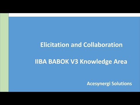 Business Analysis Certification Live Session|  Elicitation & Collaboration |CBAP