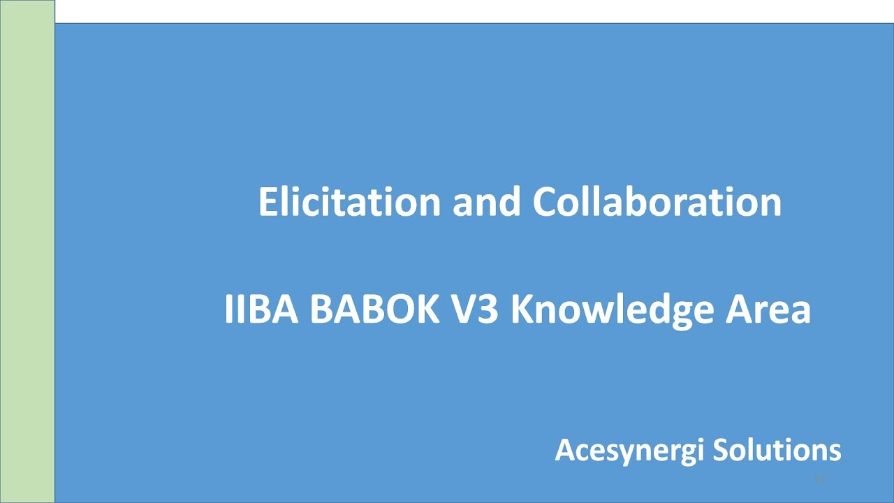 Business Analysis Certification Live Session Elicitation