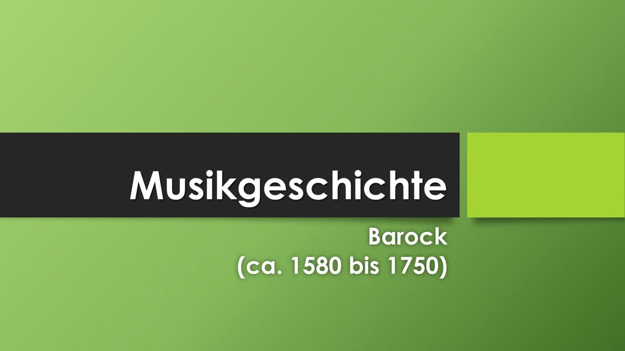 Musik im Barock