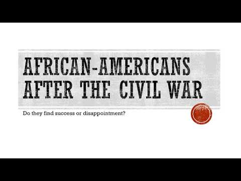 Reconstruction and African-Americans - Edited