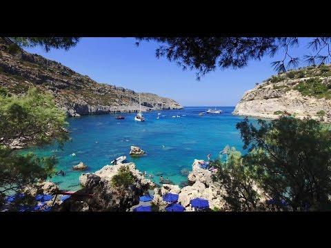 Anthony Quinn Beach, Rhodes Greece - 4K