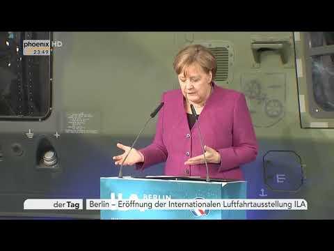 Angela Merkel zur Eröffnung der Internationalen Luftfahrtausstellung am 25.04.18