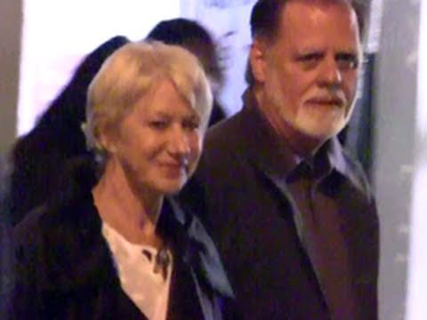 Helen Mirren Leaves Party with Husband