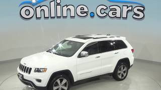 A99218TA Used 2015 Jeep Grand Cherokee Limited 4WD SUV White Test Drive, Review, For Sale