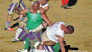 挑戰新聞軍事精華版--比美式足球更暴力,義大利「戰爭足球」揭密