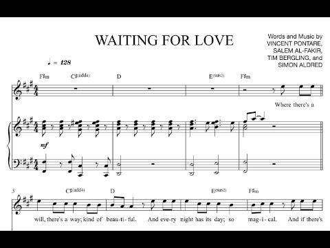 Waiting For Love Avicii Sheet Midi Download Youtube