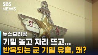 기밀 놓고 자리 뜨고…반복되는 군 기밀 유출, 왜? / SBS / 주영진의 뉴스브리핑