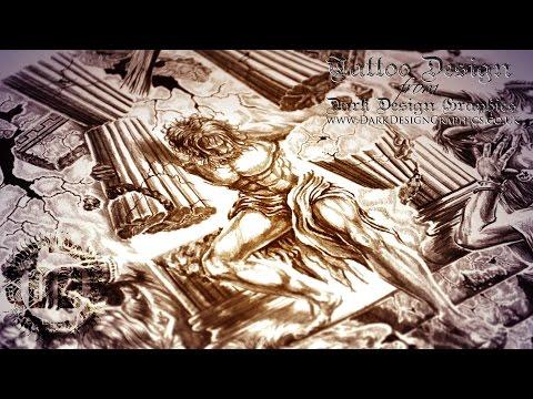5dcabb792 Samson Tattoo Design - Delilah & The House of Dagon - Dark Design Graphics  | Graphic Design Newcastle