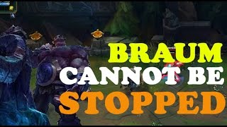 BRAUM CANNOT BE OUTPLAYED AT TOP LANE!!!!!!!!!!! [League Of Legends]