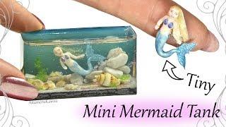 how to mini mermaid aquarium fish tank resin polymer clay craft tutorial