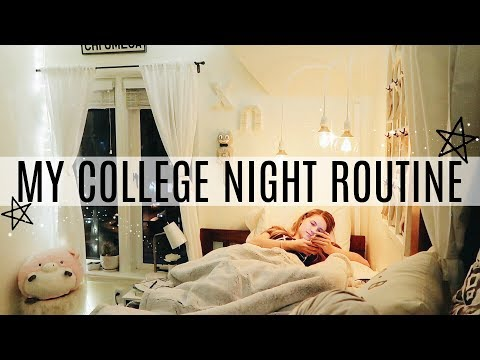 MY COLLEGE NIGHT ROUTINE AT UO!