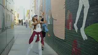 Cheerful Fashion Woman in Stylish Clothes Taking a Picture on Her Phone the Wonderful Graffiti |