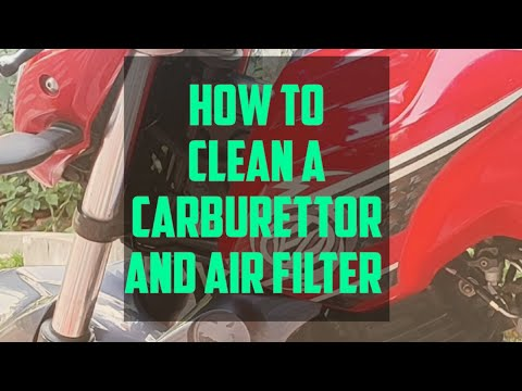 Yamaha FZ/fazer carburetor cleaning and Air Filter replacement