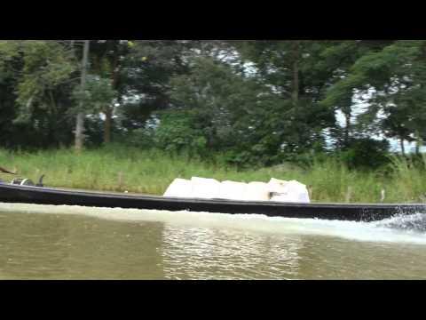 Motorized boat on Inle Lake, Myanmar