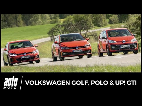 VW up! vs Polo vs Golf - ESSAI : bienvenue chez les G'TI