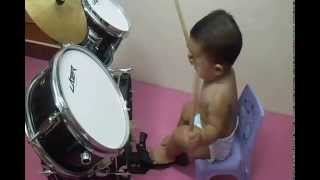 Baby Drumming Concert-Fun,with Diaper Drummer Boy,Drums Fashion Thumbnail