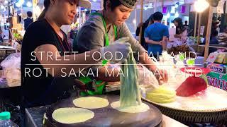 Food Thailand # Street food #Roti Saai Mai # โรตีสายไหมยอดฮิต# Bangkok food # ideal food