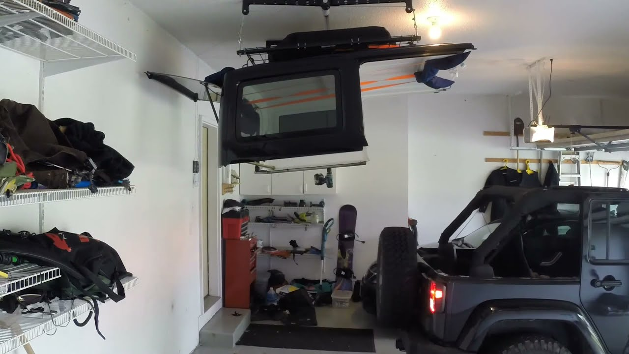 Jeep Jk Unlimited Hard Top Installation With Racor Hoist