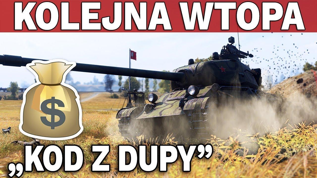 "KOLEJNA WTOPA – ""Kod z Dupy"" i Mocarny ST-1 – World of Tanks"