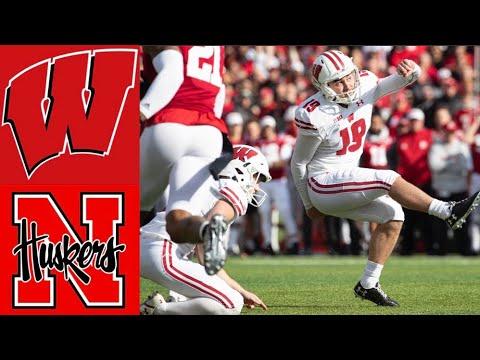 #14 Wisconsin vs Nebraska Highlights | NCAAF Week 12 | College Football Highlights