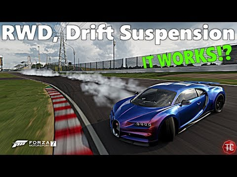 Forza Motorsport 7: RWD Bugatti Chiron w/ DRIFT SUSPENSION! (Full Angle) Build, and Tune