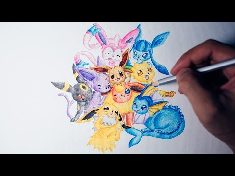 Eevee Evolution - Speed Drawing #1