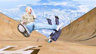 GTA 5 Crazy Jumper/Falls compilation #8 (GTA 5 Fails Funny Moments/Ragdolls)