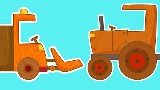 МАШИНКИ - сериал для мальчиков. Мультики про машинки - Трактор. Машинки для мальчиков