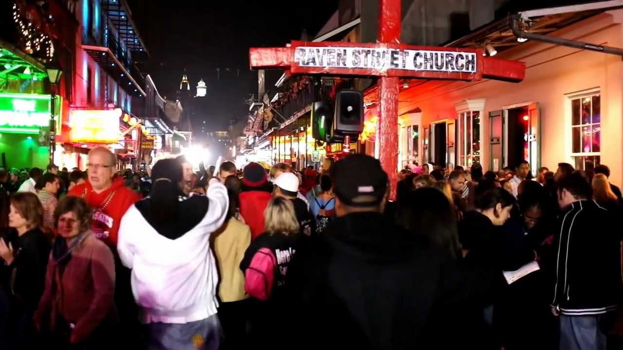 Proselytizing On Bourbon Street New Orleans On New Years Eve