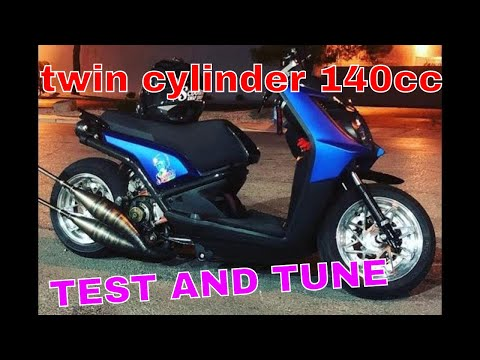 Cruising  around on the scooterswapshop twin Zuma 2 stroke STAGE6 R/T