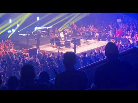 Aew Dynamite Road Rager Chris Jericho MJF fan attempts to enter the ring live show live view 2021