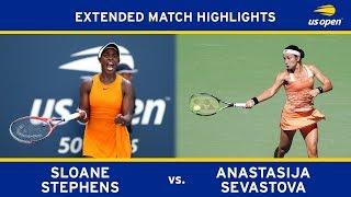 Extended Highlight: Sloane Stephens vs. Anastasija Sevastova | 2018 US Open, QF