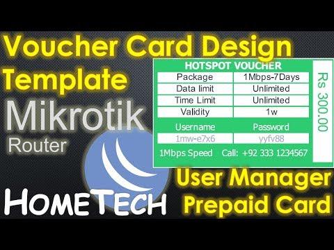 MikroTik User manager Voucher | Userman Voucher Design