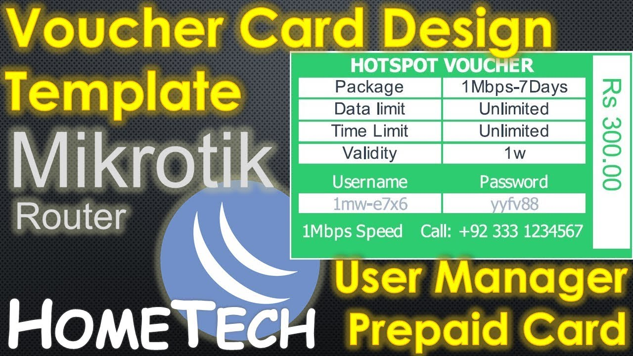 MikroTik User manager Voucher | Userman Voucher Design Template | MikroTik  prepaid billing card sys