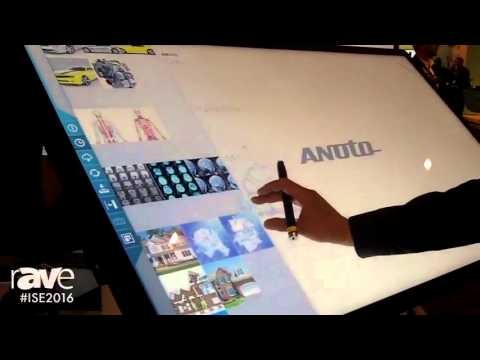ISE 2016: Anoto Shows the Anoto Live 55-Inch UHD 4K Collaboration Display