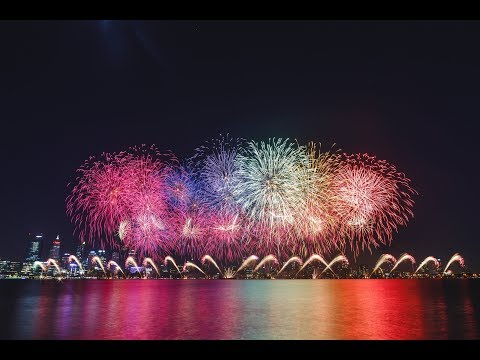 2018 Australia Day Fireworks, Perth Western Australia