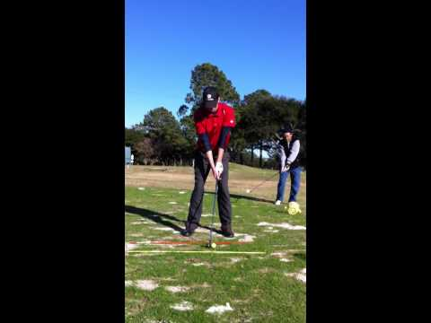 Driving range practice session