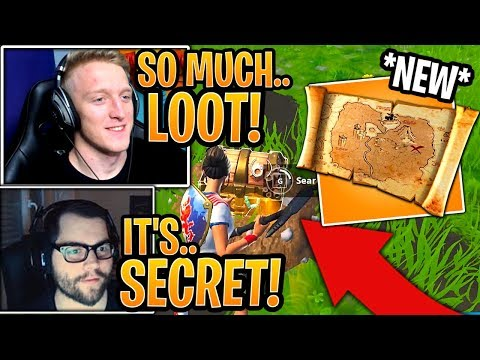 Streamers First Time Using *NEW* Buried Treasure Map Item! - Fortnite Moments