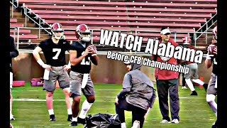 Watch Alabama Crimson Tide Football practice before National Championship Game