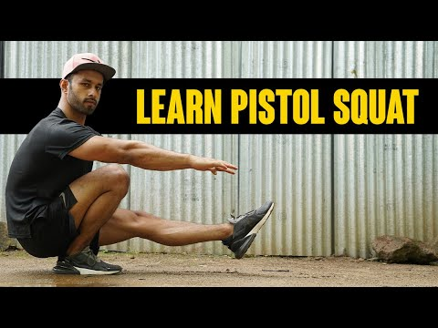 HOW TO PISTOL SQUAT | One Leg Squat Tutorial | Calisthenics | Hindi | Rajan Sharma | MuscleBlaze