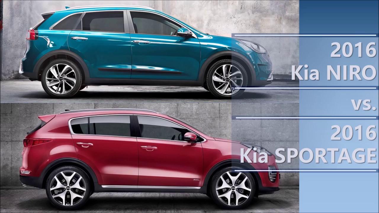 2016 Kia Niro Vs Sportage Comparison