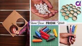 10 Useful DIY Room Decor Ideas !! Best out of waste   Artkala