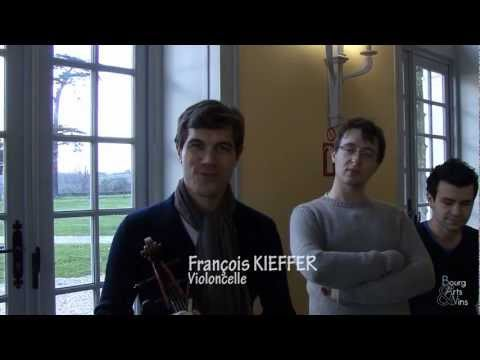 Interview du Quatuor à cordes Amadeo MODIGLIANI