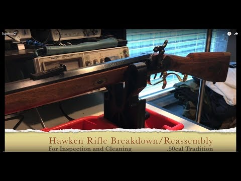 .50 cal Traditions Hawken Rifle disassembly and reassembly for cleaning and inspection