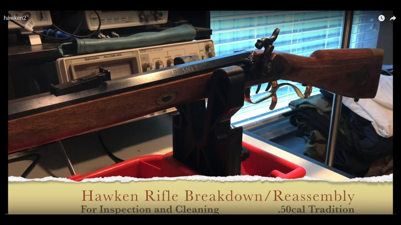 50 cal Traditions Hawken Rifle disassembly and reassembly for cleaning and  inspection
