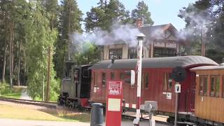Steam Locomotive from Norwegian Railway Museum in action - Norway - Hamar