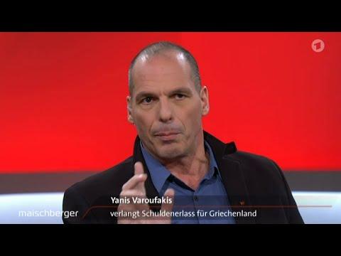 Maischberger-Talk mit Yanis Varoufakis, Sahra Wagenknecht und Lindner 10.02.2016 - Bananenrepublik